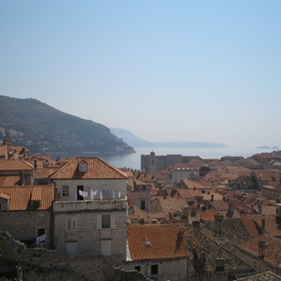 The city of Dubrovnik lies along the Adriatic coast.