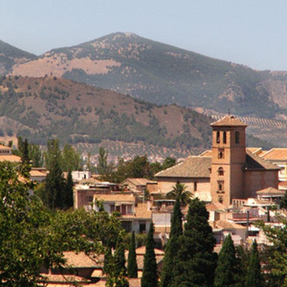 Granada is near Spain's southern coast, about five hours south of Madrid.