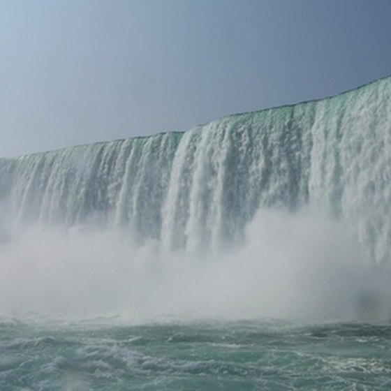 Niagara Falls sits in both the U.S. and Canada.