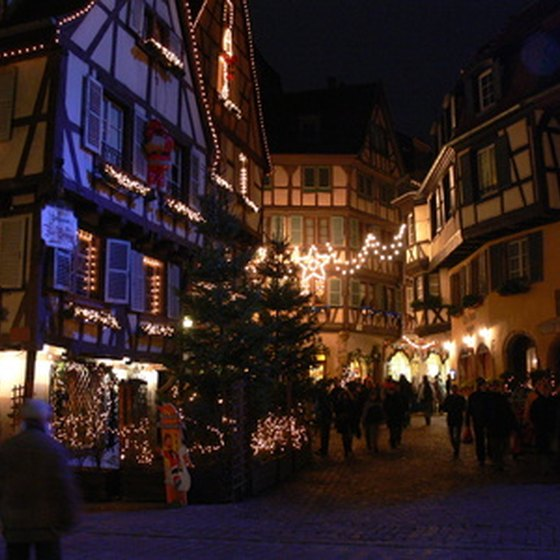 Colmar is noted as a picturesque Alsatian town.