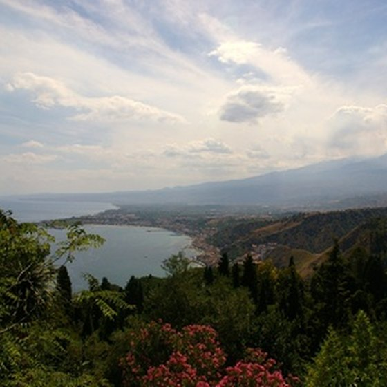 Forested land surrounds Taormina on many sides.