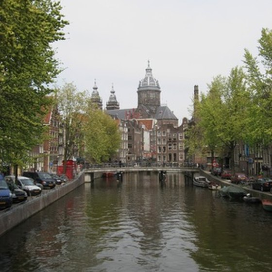 Amsterdam has a large network of canals.