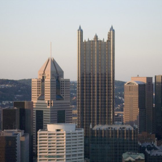 Downtown Pittsburgh balances the modern with the historic.