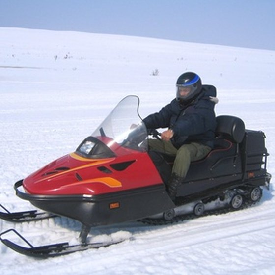 Michigan is one of three states with snowmobile trail systems.
