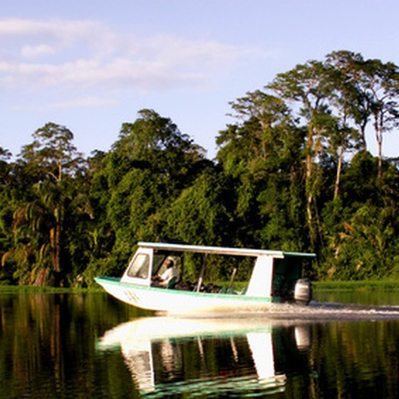 Boating in the Amazon River