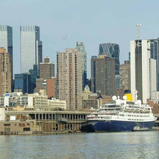 A shot of the New York City Harbor.