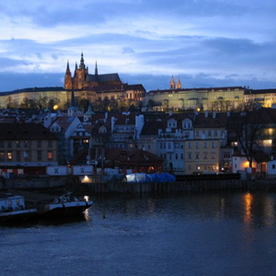 Prague Castle is just one of many castles in the former Czechoslovakia.