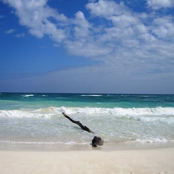 A view of the Caribbean Sea from the beaches of Cancun.