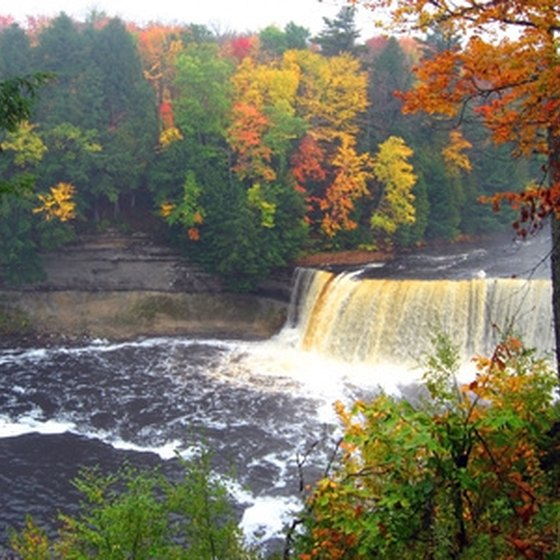Michigan's Tahquamenon Falls in the Upper Peninsula in autumn