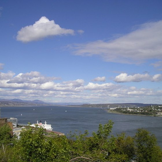 The St. Lawrence River in Quebec City