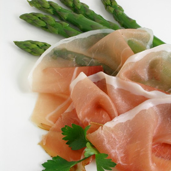Prosciutto ham is one of the stars of Italian cuisine