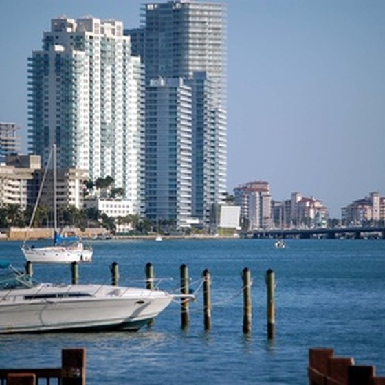 A partial view of the Miami Beach skyline.