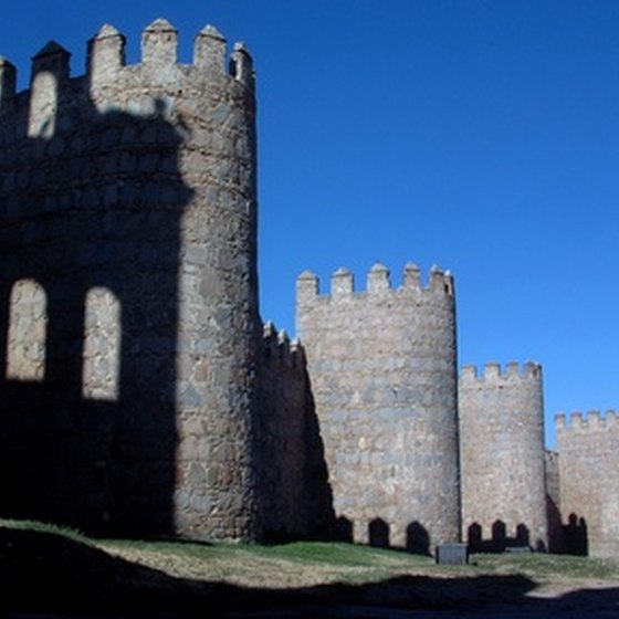 The medieval walls of Avila are a great place to explore.