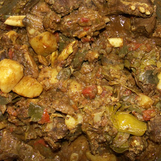 Curried goat is a Jamaican specialty.