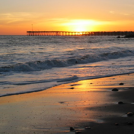 A Ventura pier sunset is a fine way to end the day.