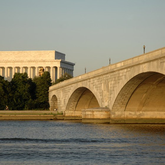 Sights like the Lincoln Memorial comprise the Potomac riverfront.