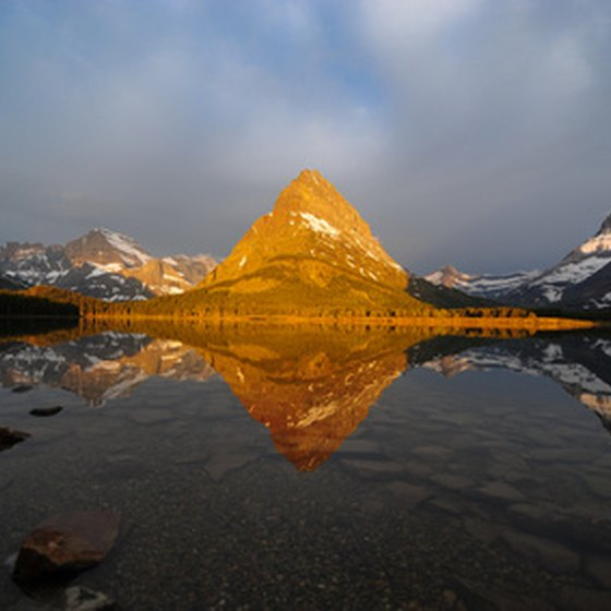 Enjoy the natural features in western Montana, such as the ones in Glacier National Park.
