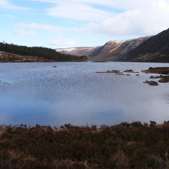 Blue lochs feature prominently on many Scottish hikes.