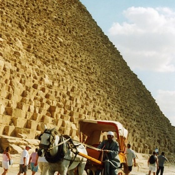 The pyramids draw tourists from around the world.