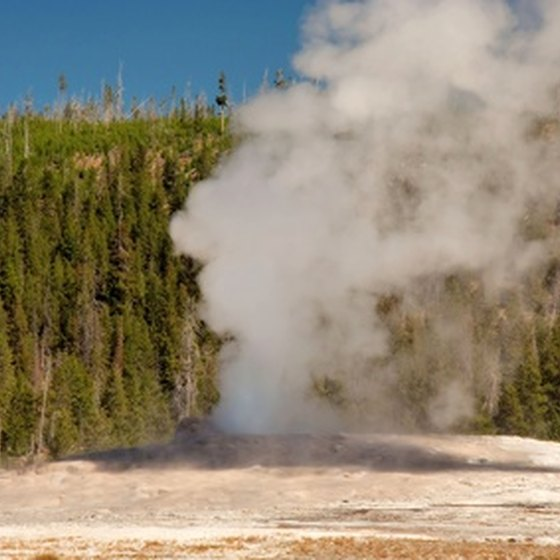 Old Faithful is one of the western US national park attractions.