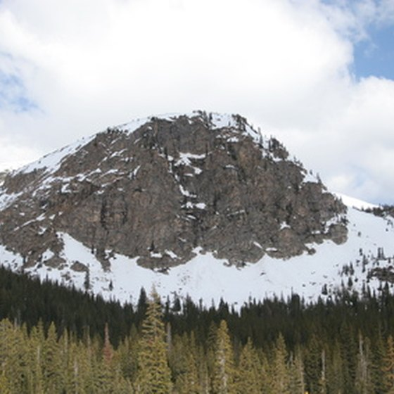 The snow tipped peaks of the Rockies provide a breathtaking backdrop to the American West.