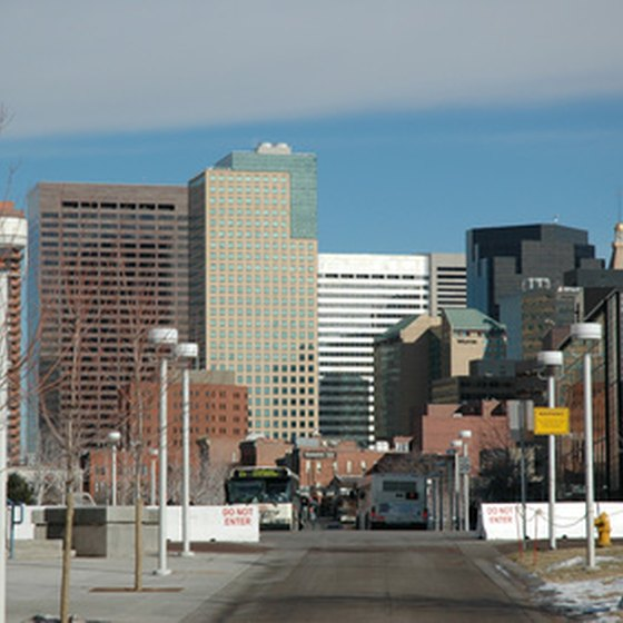 Downtown Denver features many cheap hotels.