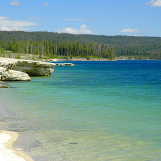 Yellowstone Lake's clear blue waters