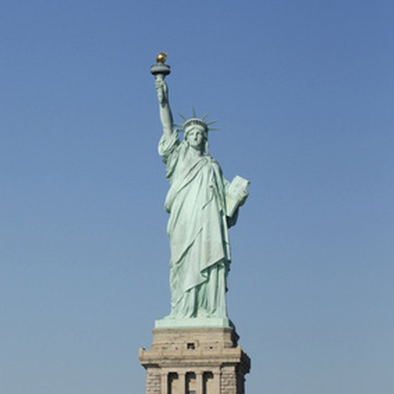 Lady Liberty, who watches over New York's harbor.