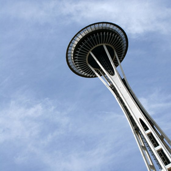 Seattle's skyline includes the landmark Space Needle.