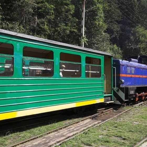 Historic Polish train at Bieszczady.