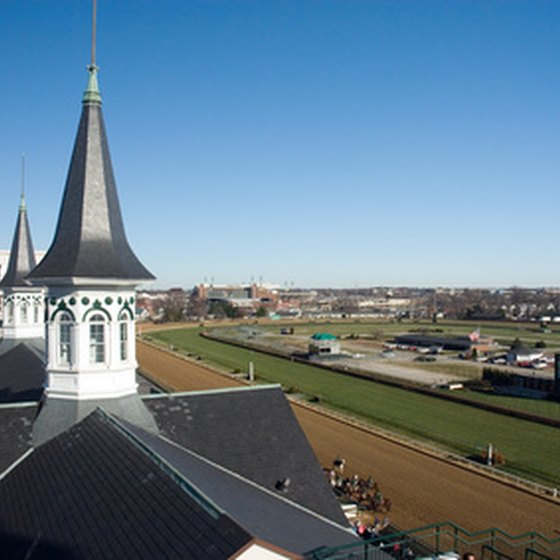 Churchill Downs in Louisville, Kentucky, hosts the Kentucky Derby.
