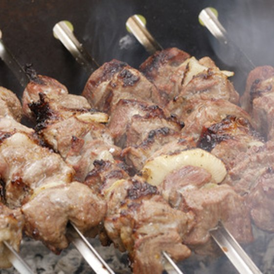 Chicken and lamb kabobs are popular menu options at the local Indian restaurants in Sacramento.