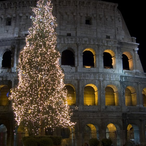 Romans celebrate the Christmas season with sweet pastry and mulled wine