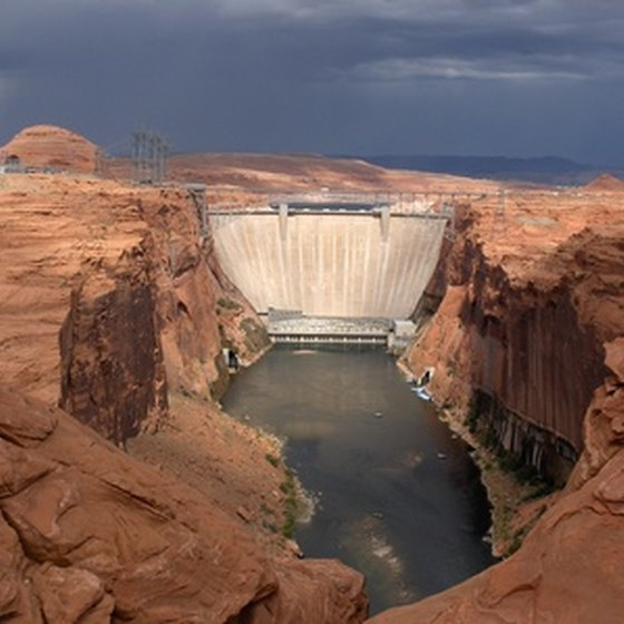 The Glen Canyon Dam created Lake Powell.