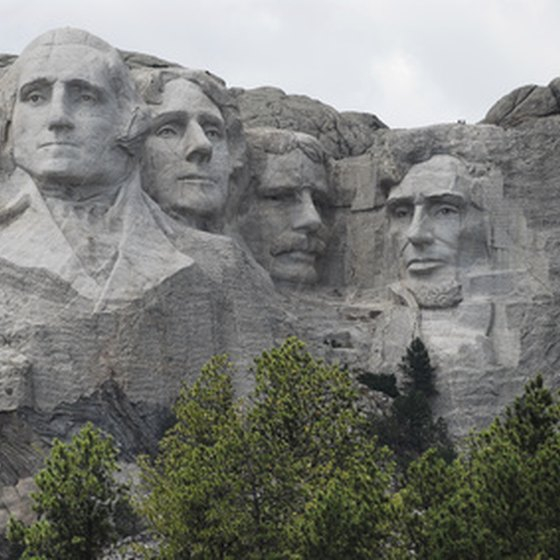 Mount Rushmore is carved into the Black Hills.