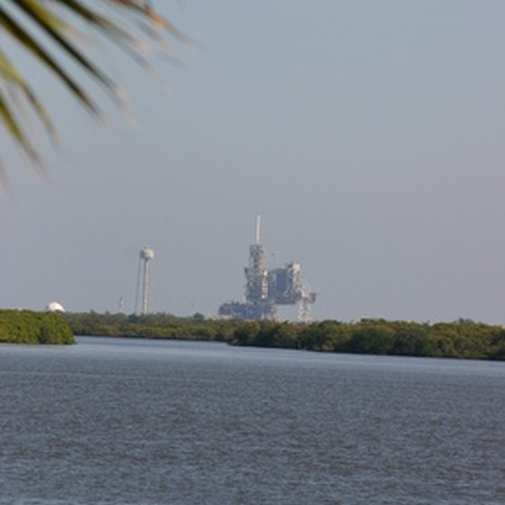 Visitors to the Kennedy Space Center can camp within view of NASA buildings.