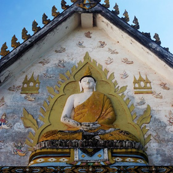 Thailand's rich landscape includes ornately-designed architecture and statues.