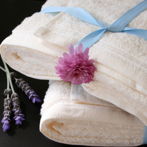 Luxury hotels offer specialty bath amenities.