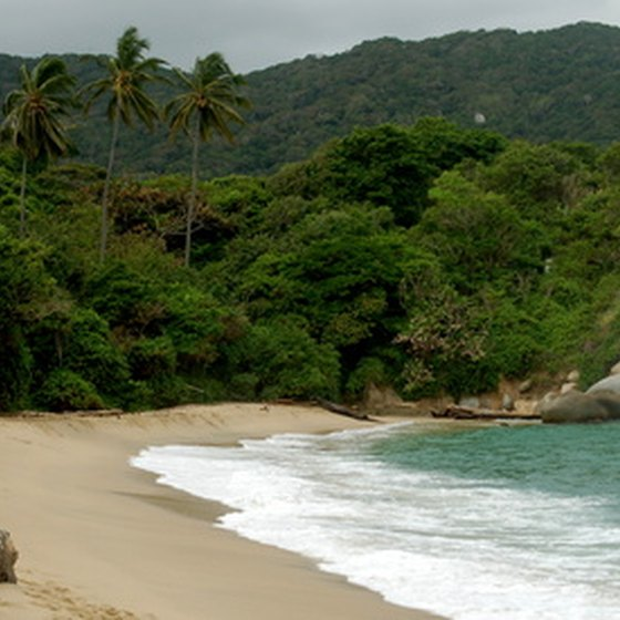 Colombia's beaches are popular with foreign visitors.