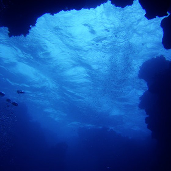 Diving in a cave means no easy return to the surface.