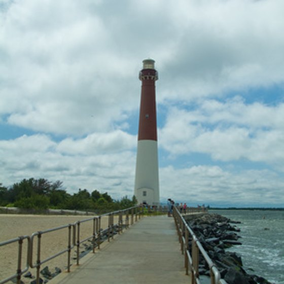 Barnegat Lighthouse towers over the northern tip of Long Beach Island.
