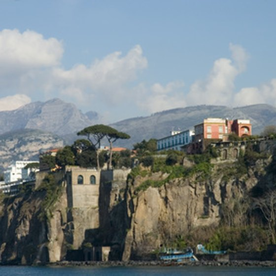 Many luxury villas in Sorrento overlook the Amalfi Coast.