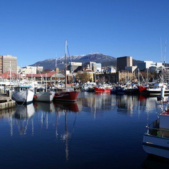 Hobart, the capital city of Tasmania