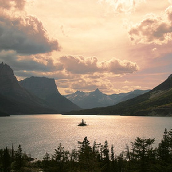Glacier National Park is known for its lakes, such as St. Mary.