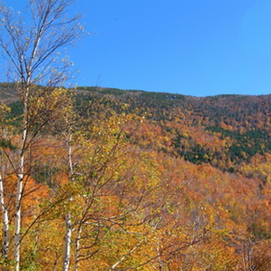 The White Mountains in New Hampshire during autumn