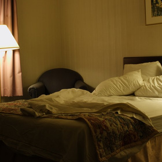 Hotels near Patoka Lake feature various bedding options