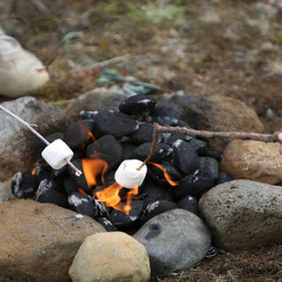 Park regulartion require all campfires to be kept in designated areas.