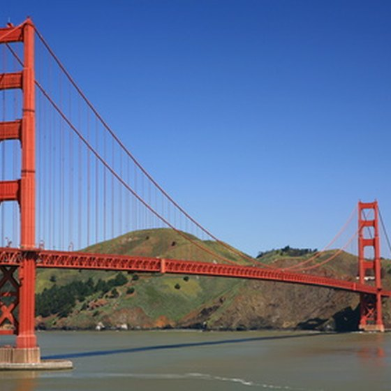 The Golden Gate Bridge in San Francisco is one of California's most recognizable landmarks.