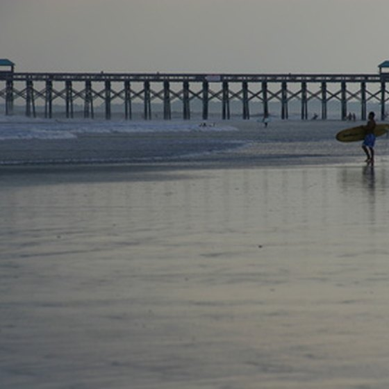 A Carolina surfer prepares to go after the next wave