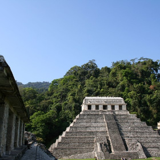 The ruins of Palenque are among the most scenic of ancient Mayan cities.